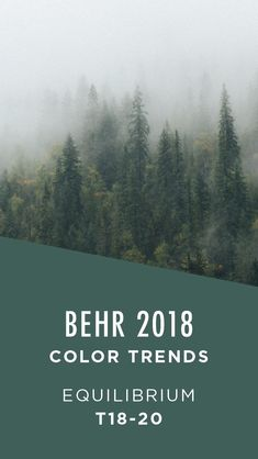 Equilibrium by BEHR Paint is a rich forest green color that calls to mind the pe. Equilibrium by B Behr Paint Colors, Green Paint Colors, Paint Color Palettes, Green Accent Walls, Accent Colors, Forest Green Color, House Painting, House Colors, Colorful Interiors