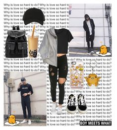 """""""Boy Meets What - RapMon Edition"""" by wonders-of-the-world ❤ liked on Polyvore featuring Monki, Hache, Vans, Y-3 and Casetify"""