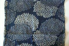 Katazome, indigo blue, vintage Japanese fabric, 1.7 m long piece, patchwork