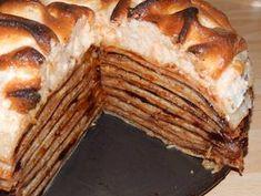 Rakott palacsinta recept lépés 12 foto Hungarian Desserts, Hungarian Recipes, Hungarian Food, Crepe Cake, Mille Crepe, Pancakes, Pie, Sweets, Bread