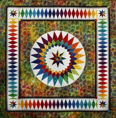 Summer Dream, The Rainbow Collection - BeColourful Quilts wall hanging