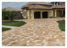 Cliff's Pools & Patios offers driveway pavers with unique texture and color.