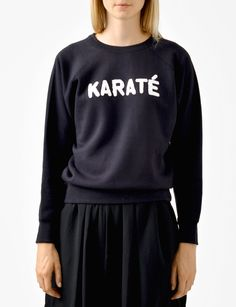 cody embroidered karate sweatshirt