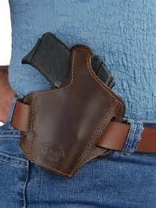 Barsony Dark Brown Leather Pancake Holster for 22 32 25 380 and Small 40 (