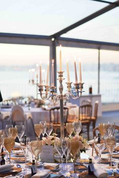 #villasaopaulo centerpiece table decor ideas inspiration wedding by the sea outdoor wedding reception gold theme