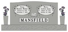 This granite monument design features oval outlines and long-stemmed roses. #granite #headstone #design #monument #gravestone #marker #gravemarker #tombstone #memorial #grave #burial