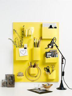 1000 images about on pinterest yellow for Schreibtisch yellow