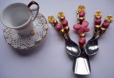 conjunto cafézinho - colherinha & colher açucareiro