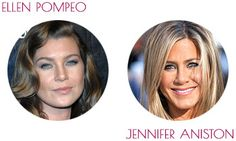 SOFT SUMMER ~ soft and cool celebrity examples: Ellen Pompeo and Jennifer Aniston