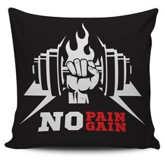 Want a soft squishy pillow after a hard days' workout?  Great gift for gym or fitness-oriented friends.  Order now - https://fitnicky.com/products/no-pain-no-gain-pillow-colored