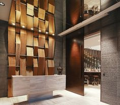 andre fu - another facade idea Lobby Interior, Cafe Interior, Office Interior Design, Interior Architecture, Design Hotel, Lobby Design, Hotel Interiors, Office Interiors, Commercial Design
