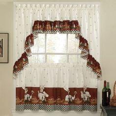Amazon.com: Savory Chefs Kitchen Curtains - Ruffled Valance: Home & Kitchen
