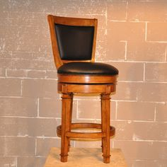 @Overstock.com - Whitaker Furniture Monticello 30-inch Pub Game Stool - The Monticello pub stool is a great addition for any bar setting. The chair features a choice of stunning burnished oak or cherry finish options along with a black leather upholstered back and seat.  http://www.overstock.com/Home-Garden/Whitaker-Furniture-Monticello-30-inch-Pub-Game-Stool/8134008/product.html?CID=214117 $336.99