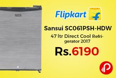 Flipkart is offering 17% off on Sansui SC061PSH-HDW 47 ltr Direct Cool Refrigerator 2017 at Rs.6190 Only. Single Door Refrigerator, 1 Star BEE Rating 2016, Reciprocatory Compressor, 2017 Manufacture Year, 1 Year Warranty on Unit.  http://www.paisebachaoindia.com/sansui-sc061psh-hdw-47-ltr-direct-cool-refrigerator-2017-at-rs-6190-only-flipkart/