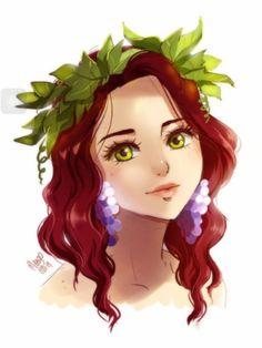 Wine closeup! I love how her earrings are grapes. So creative!