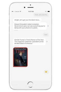 Quartz's mobile app is one of the most approachable ways to get your daily news. The app presents trending headlines in a texting format. If an article doesn't interest you, you can move on to the next. Want to hear more? Tap the thinking-face emoji and the app texts you interesting quotes to fill you in.Quartz, free, available on the iTunes Store and Google Play.  #refinery29 http://www.refinery29.com/2016/12/132241/apple-best-apps-2016#slide-2