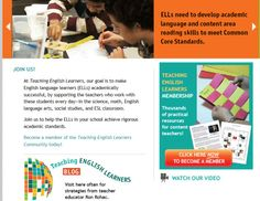 Find hundreds of content area resources for teaching English learners. Content area resources for math, science, English language arts, and social studies. Teachers Toolbox, Content Area, English Language Learners, Common Core Standards, Ell, Reading Skills, Teaching English, Social Studies, Student