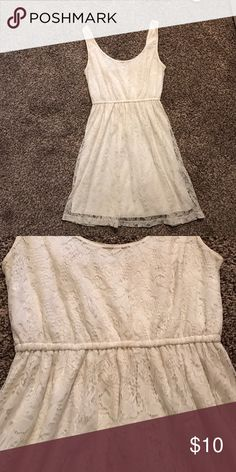 white lace dress! Dress is barely worn, I've worn it maybe 3 times total. It's a super cute white lace dress Forever 21 Dresses Mini