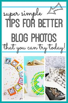 here are some great and easy Tips for Blog Photos - what I love ~ Sugar Bee Crafts