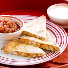 chicken and cheese quesadilla