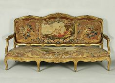 Gobelins Manufactory French: Tapestry Covers for Two Canapés. The Frick Collection.