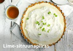 Lime-sitruunapiiras, Resepti: Arla #kauppahalli24 #arla #sitruunapiiras #lime #sitruuna #piiras #vappu #vappuruoka #resepti