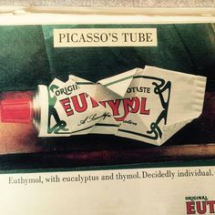Things we love from our Scrapbook, here is #Euthymol's striking #Picasso #printad from...well...you tell us #inlovewith #art