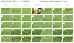 March Forth! Awesome Body's March walking & workout calendar for beginners. Workout Calendar, Fitness Calendar, Exercise Workouts, Health Exercise, Exercises, Walking Plan, Walking Exercise, Weight Loss Plans, Healthy Lifestyle