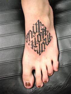 love tattoo on foot hope faith love tattoo on foot