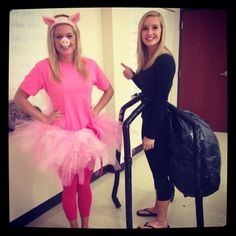 Charlotte and Wilbur from Charlotte's Web! #easycostumeideas