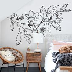 Diy Wall Art For Kids Creative Trendy Ideas Wall Murals Bedroom, Mural Wall Art, Diy Wall Art, Diy Bedroom, Diy Wand, Wall Painting Decor, Wall Paintings, Decoration Bedroom, Deco Originale