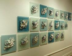 Ceramics by Jenny Beavan at Studiopottery.co.uk - 2015. Energised Water, porcelain.