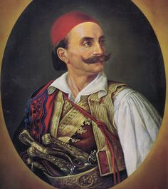 Κίτσος Τζαβέλας. Kitsos Tzavelas Greek Independence, Greek Warrior, Ottoman Empire, History Facts, Traditional Outfits, Revolution, Folk, Hero, Culture