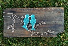 Love Birds On A Branch// String Art by ArtOfNoelle on Etsy
