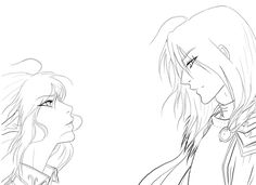 SO Rowan and Aelin after their emotional negotiation in SO many scenes in Heir [NwN2: I found you Lineart, by drathe*, on DeviantART]