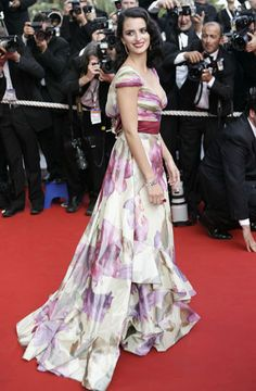 Penélope Cruz at the Cannes Film Festival in 2005 in Valentino Dress