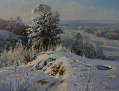 Discover great art by contemporary artist Alexander Babich. Browse artworks, buy original art or high end prints. Winter Painting, Sky Painting, Artist Painting, Winter Landscape, Landscape Art, Landscape Paintings, Nature Paintings, Beautiful Paintings, Oil Paintings
