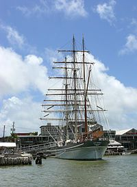 """Elissa (ship) - Wikipedia A 3 masted iron hulled sailing ship built: 1877 in Aberdeen, Scotland,  She carried 19 sails.  Tall ships are the configuration of their sailing rig.  Her name came from the epic Roman Poem, """"The Aeneid,"""" She is a """"survivor"""", not a replica.  She was built during the decline of the """"Age Of Sails"""".  She carried cargo to ports around the world."""