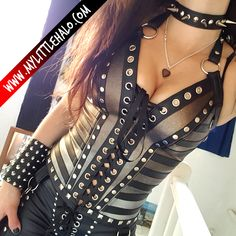 Silver & Gold Leather Bustier - My Little Halo http://www.mylittlehalo.com