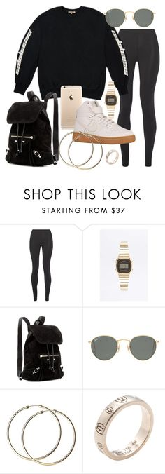 """""""Untitled #21552"""" by florencia95 ❤ liked on Polyvore featuring Live the Process, Casio, Nike air force, Balenciaga, Ray-Ban and Cartier"""