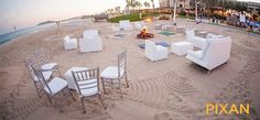 An intimate cocktail hour on the beach can accommodate smaller groups or large groups up to 500 people. #dreamsloscabos #Mexico #Destinationwedding