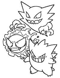 Pokemon Haunter Coloring Page