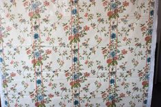 Chintz fabric Rutledge from the Salt Box House vintage off white with rust blue flowers 80's drapery fabric upholstery home floral Greeff by JubileeStreet on Etsy https://www.etsy.com/listing/229674290/chintz-fabric-rutledge-from-the-salt-box