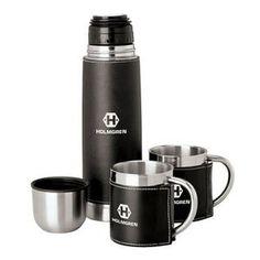 Steel Flask & Cups Travel Set | Minimum order 24, $32.95 - $29.95 ea.