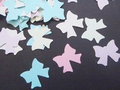 pastel ribbon bow confetti baby shower baptism newborn baby nursery wedding confetti party favor favor table decor garland lasoffittadiste
