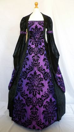 Gothic dress medieval gown pagan costume by DJmedievaldresses