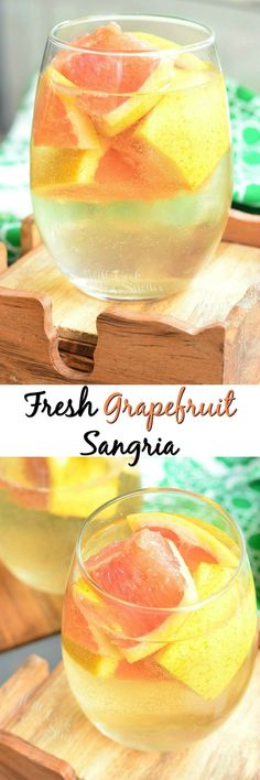 Fresh Grapefruit Sangria. Refreshing cocktail, just perfect for warm weather. from willcookforsmiles.com