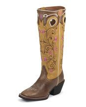 Tony Lama Women's Saddle Brown Travis Boot