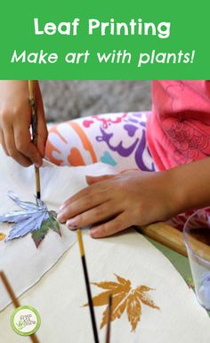 Make art with plants with leaf printing