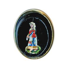 Image Copyright RC Larner ~ Button--Mid-19th C. Micromosaic Lady in Silver ~  R C Larner Buttons at eBay & Etsy        http://stores.ebay.com/RC-LARNER-BUTTONS and https://www.etsy.com/shop/rclarner and https://www.rubylane.com/shop/rclarner